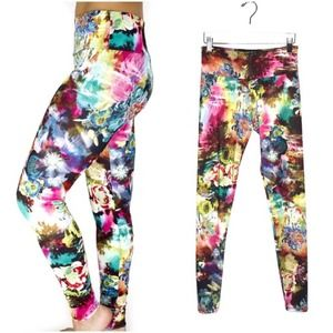 Onzie Floral Leggings Delic Psychedelic Trippy S/M